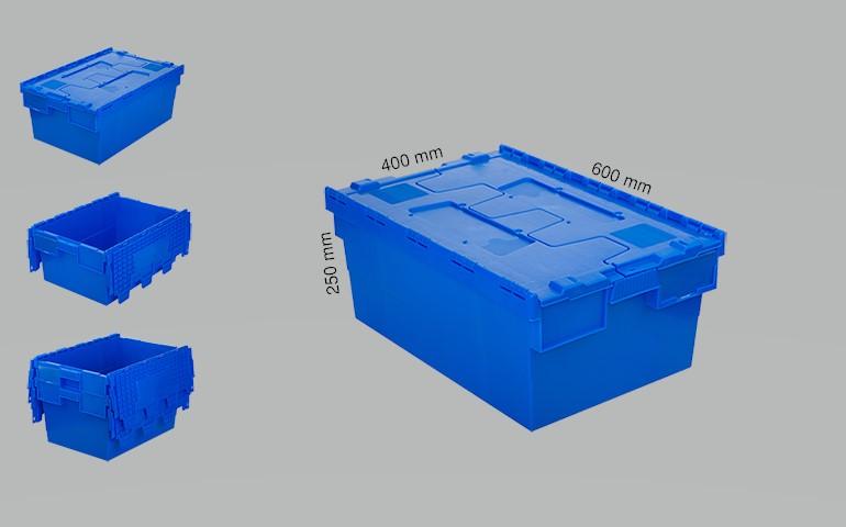 Plastic crates 600x400x250