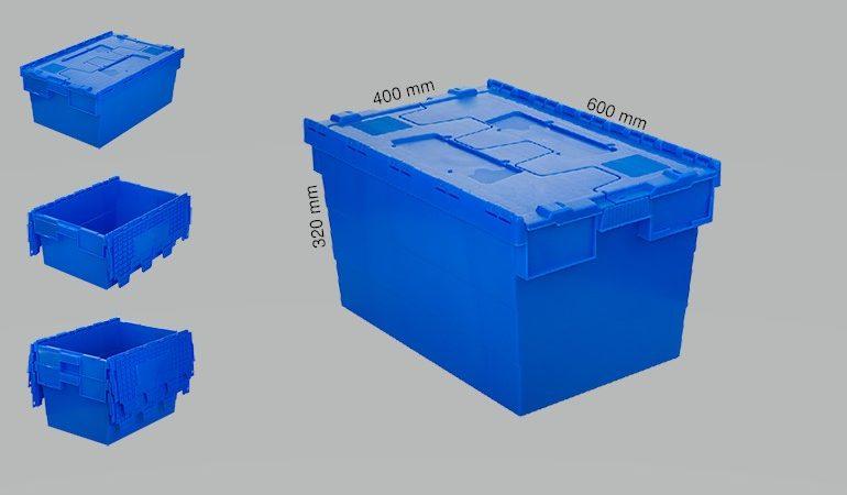 Plastic crates 600x400x320