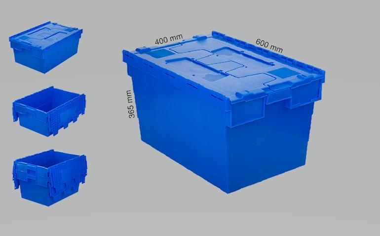 Plastic crates 600x400x365