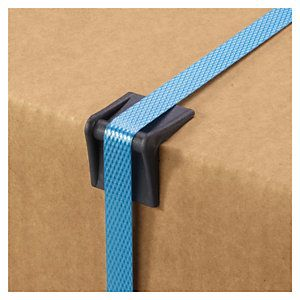 Plastic edge protector for packing