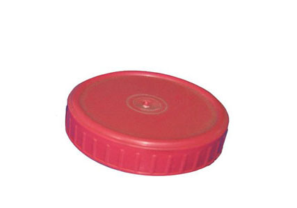 Plastic lid for glass jars
